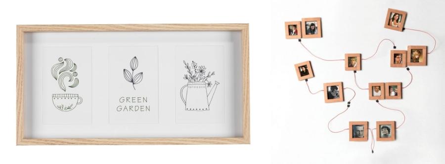 Drewniane ramki na zdjęcia Jysk i WellDone Dobre Rzeczy.