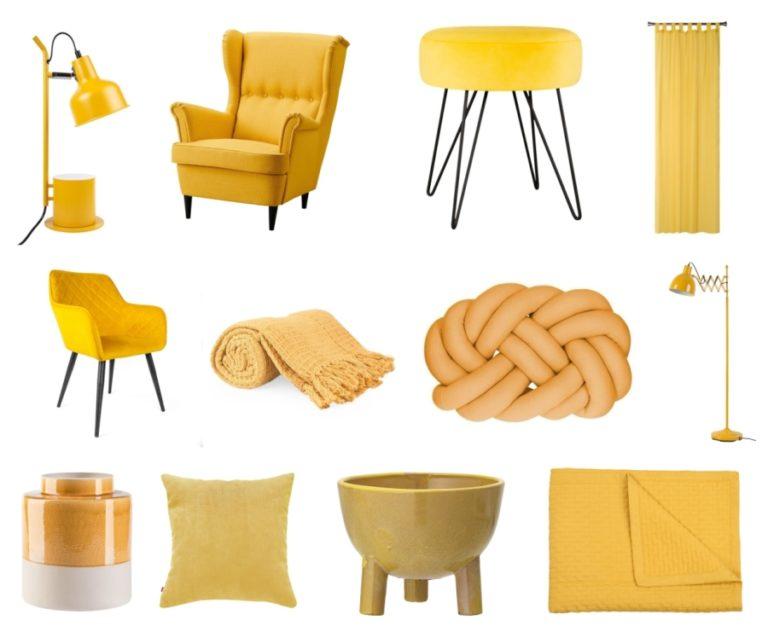 Żółte dodatki do domu